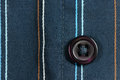 Button blue striped shirt with closeup Stock Image
