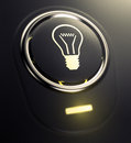 Button with bulb symbol Royalty Free Stock Photo