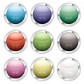 Button candid silver Royalty Free Stock Photo