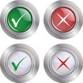 Button Check mark-Cancel Royalty Free Stock Photo