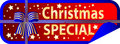 Button Christmas Special with ribbon Royalty Free Stock Photo