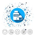 Medical pills bottle sign icon. Drugs symbol. Royalty Free Stock Photo