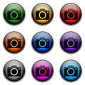 Button color camera colorful buttons with different topics Royalty Free Stock Photos