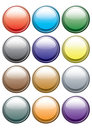 Button from colors. Vector. Royalty Free Stock Images