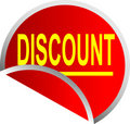 Button Discount Royalty Free Stock Photography