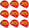 Button Discount percentages Royalty Free Stock Photography
