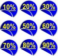 Button Discount percentages Royalty Free Stock Photos