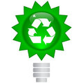 Button with ecology symbol Royalty Free Stock Photo