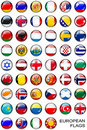 Button european flags Royalty Free Stock Photos