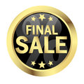 Button FINAL SALE Royalty Free Stock Photo