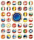 Button flags set European Royalty Free Stock Photo