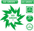 Button go green icons Stock Photo
