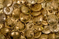 Button golden background Royalty Free Stock Images