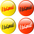 Button i feel good Stock Image