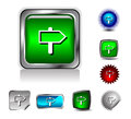 Button icon Stock Photography