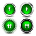 Button icon Royalty Free Stock Images