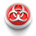 Button Icon: BioHazard Royalty Free Stock Images
