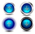 Button icon web set on white Stock Images