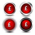 Button icon web set on white Royalty Free Stock Images