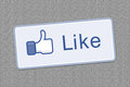 Button like facebook Stock Image
