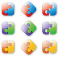 Button-like puzzle Stock Photography