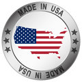 button Made in USA Royalty Free Stock Photo