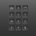 Button money currency icons
