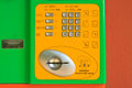 Button number public telephone coin and card in thailand Royalty Free Stock Photography