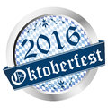 Button Oktoberfest 2016 Royalty Free Stock Photo