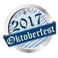 Button Oktoberfest 2017 Royalty Free Stock Photo