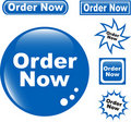 Button ORDER NOW glossy icons set Stock Image