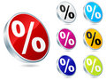 Button with percent on it Royalty Free Stock Image
