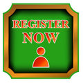Button register now Royalty Free Stock Image