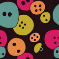 Button seamless dark pattern Royalty Free Stock Images