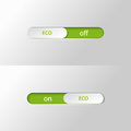 Button slider eco on off
