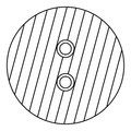 Button with stripes icon, outline style