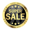 Button SUPER SALE Royalty Free Stock Photo