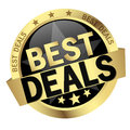 button with text Best Deals Royalty Free Stock Photo