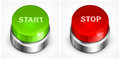 Button with words start and stop on white background vector illustration Royalty Free Stock Image