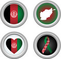 Buttons Afeghanistan Royalty Free Stock Photos
