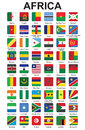 Buttons with African countries flags Royalty Free Stock Image