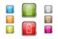 Buttons with battery sign icons Royalty Free Stock Images