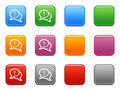 Buttons with comments icon Royalty Free Stock Image