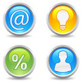 Buttons - contact, idea, profit, user Royalty Free Stock Images