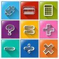Buttons with the different mathematical operations Royalty Free Stock Photo