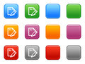 Buttons edit documents icon Stock Images