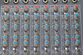 Buttons equipment for sound mixer control select focus a Royalty Free Stock Image