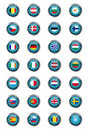Buttons with European Union flags Royalty Free Stock Photo