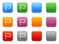 Buttons with flag icon Stock Image