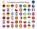 Buttons with flags of Europe Royalty Free Stock Photo